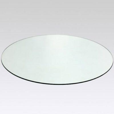 cristal tapa de mesa circular
