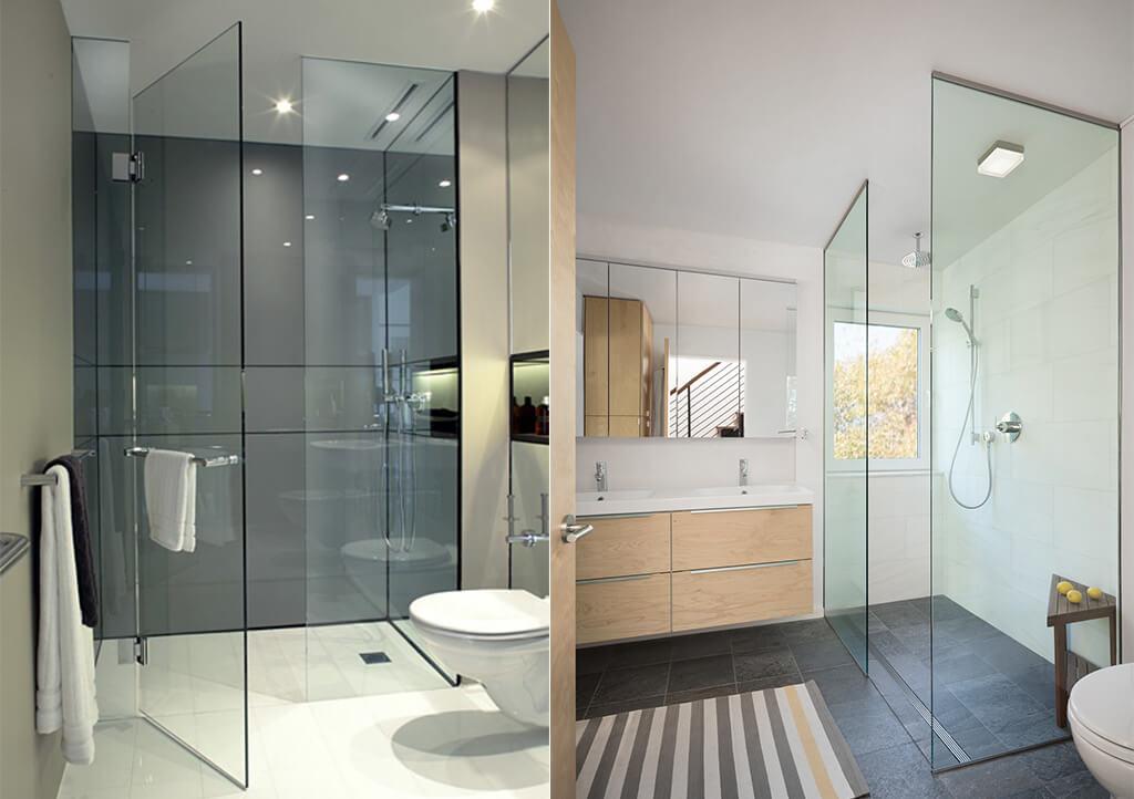 Mampara de cristal para ducha