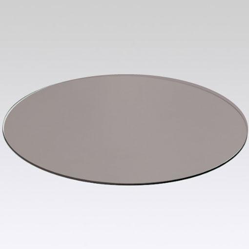 Crsital redondo mesa bronce